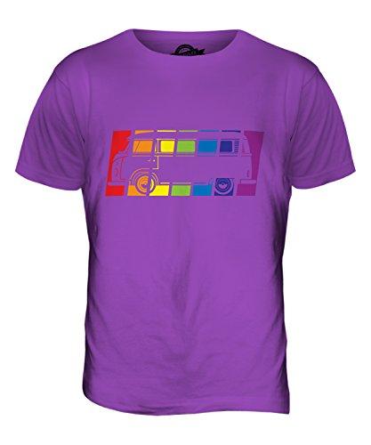 CandyMix Wohnmobil Regenbogen Herren T Shirt Violett