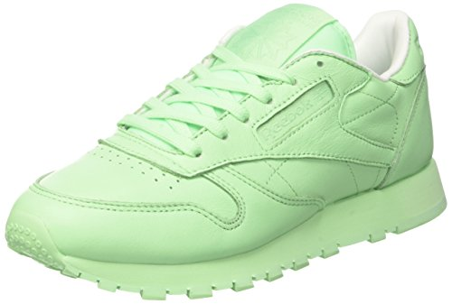 Reebok Damen X Spirit Classic Leather Sneakers, Grün (Mint Green/White), 41 EU (Classic Tennis-schuh)