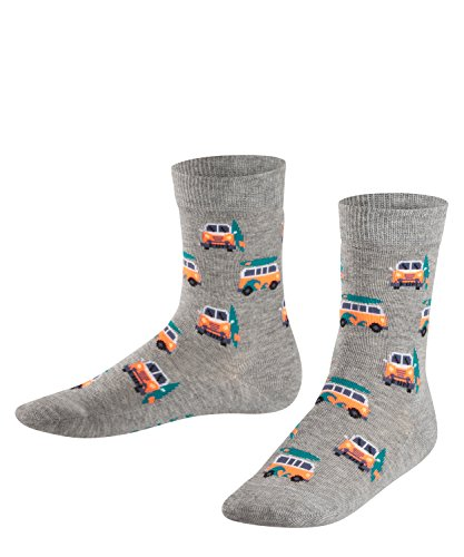 FALKE Jungen Socken Surf Van, Grau (Light Grey 3400), 35-38 (Kinder Vans-socken)