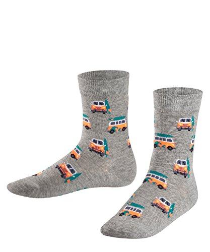 FALKE Jungen Socken Surf Van, Grau (Light Grey 3400), 35-38 (Vans-socken Kinder)