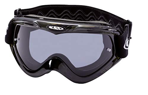 K-E-D Eyewear Creeper Fahrradbrille mit extra langem silikonbeschichtetem Kopfband inkl. 2 Scheiben Clear und Smoke und 7 Stück Abreißfolien