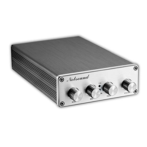 Nobsound Hi-Fi Stereo Digital Preamplifier Audio Pre-Amp with Treble/Middle/Bass Tone Control & Bypass; RCA; 2.0 Channel; Universal Voltage HiFi Vorverstärker
