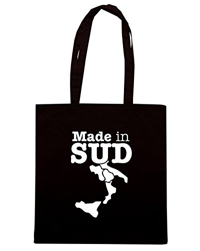 T-Shirtshock - Borsa Shopping T1043 made in sud politica Nero