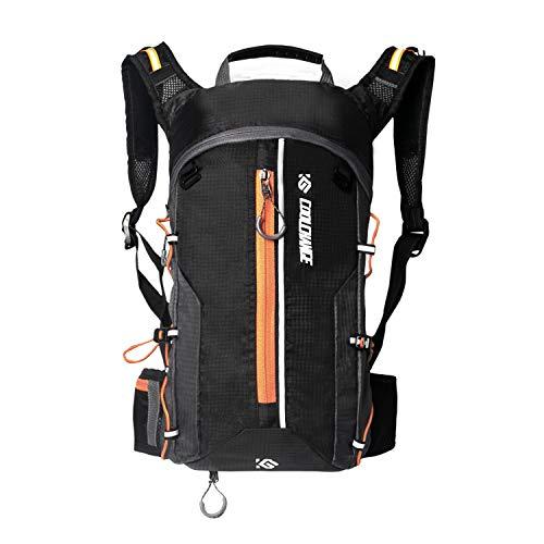 Cassiecy Fahrradrucksack Wasserdicht 10L Outdoor Rucksäcke für Wandern Klettern, Fahrradfahren, Laufsport, Camping Sportrucksack Ultraleicht Fahrrad Rücksack (Orange, One Size)