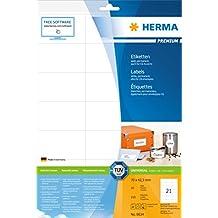 Herma 8634 Adressetiketten selbstklebend (70 x 42,3 mm auf Premium DIN A4 Papier, matt) 210 Stück auf 10 Blatt, weiß, bedruckbar, für C6-Briefumschläge, Internetmarke (D) und WebStamp (CH)