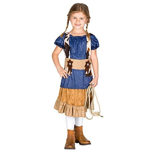 TecTake dressforfun Mädchen Kostüm Cowgirl | Stylisches Western Kostüm | inkl. Gürtel Mir Klettverschluss (8-10 Jahre | Nr. 300542) (Halloween-kostüme Mädchen Kleines Top 10)