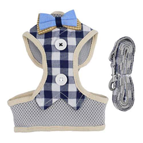 Savlot Haustiergeschirr Leine Seil Set Brustgurt Kragen Zugseil Für Hunde Atmungsaktive Hundekleid Bogen Weste Haustier Kleidung