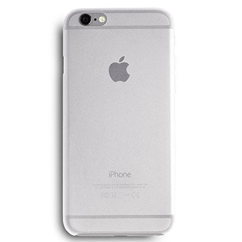 iPhone 6 Plus Hülle, Dünnste Hülle Premium Ultradünn Leicht Schmal Minimal Anti-Kratz Schutz Case - Für Apple iPhone 6s Plus | totallee The Scarf (Schwarz) Weiß