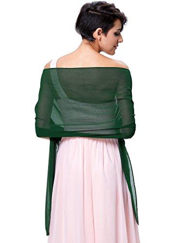 Kate Kasin Elegante Stola Multifunzione per Cerimonia Matrimonio Damigella Raso Scialle Stola KK229-6