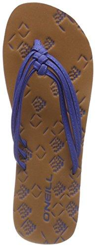 ONeill Damen FW 3 Strap Ditsy Flip Flops Zehentrenner Blau (5144 Neon Dark Blue)