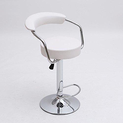 XJRHB Bar Stehtisch Stuhl vorne Rückenaufzug Drehstuhl Klappstuhl (Color : White) -