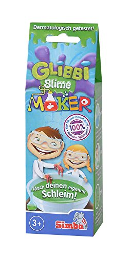 Simba 105953226 Glibbi Slime Maker, 3-sortiment Glibber, rot/grün/blau