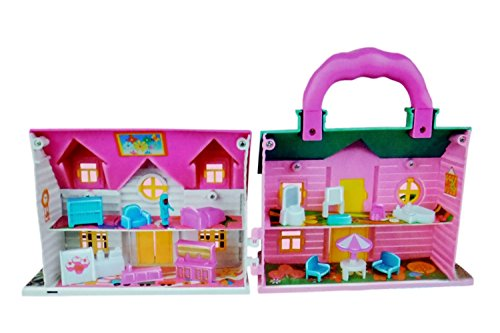 Toyshine Double-sided Doll House Toy with Playing accessories