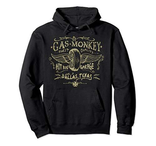 Gas Monkey Garage Winged Tire Pastel Sketch Pullover Hoodie -