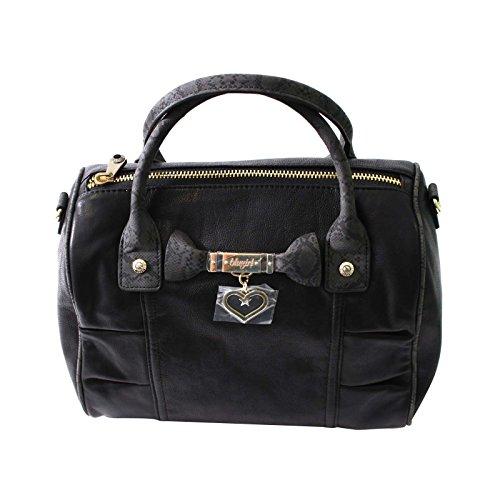 BLUMARINE BLUGIRL borsa donna di colore nero con effetto timando nero Taglia unica