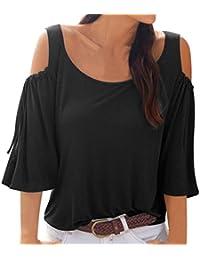 Manga de Campana Mujer, Covermason Camiseta sin Mangas con Cuello en Pico para Mujer,