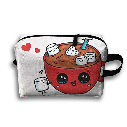 Unisex Tourist Bag Hot ChocolateMultifunction Travel Makeup Bag With Zipper Cosmetic Pouch Bags -
