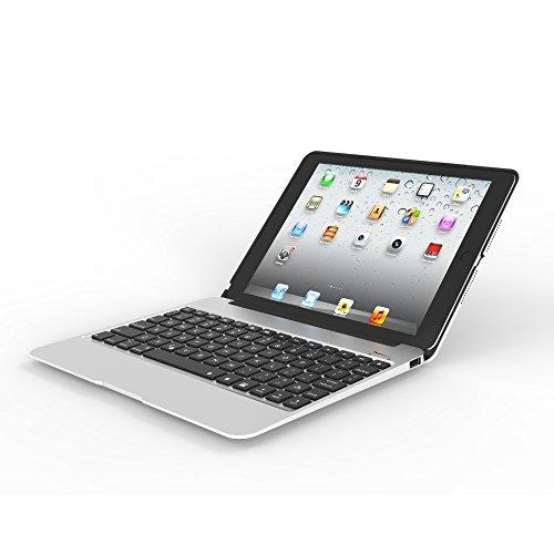i-caseboard i-case x6-g FR-Tastatur mit integrierter Schutzhülle und externer Akku für Apple iPad Air 2, Gold (Ipad Air 2 Case Ohne Tastatur)