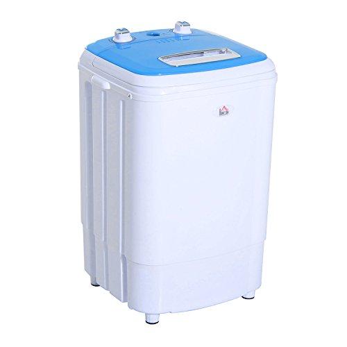 Mini machine à laver 250 W fonctions lavage essorage avec minuterie bleu et blanc neuf 02