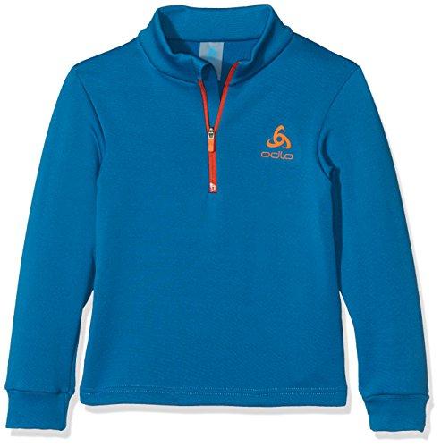 1/2 Zip Pullover Sweatshirt (Odlo Kinder Midlayer 1/2 Zip Snowbird Kids Pullover & Sweatshirts, Mykonos Blue, 140)