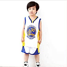 NBA Warriors Curry 30th Golden State Baloncesto Camisetas Costume Traje Basketball Jersey Niños Chicos Chicas Hombres