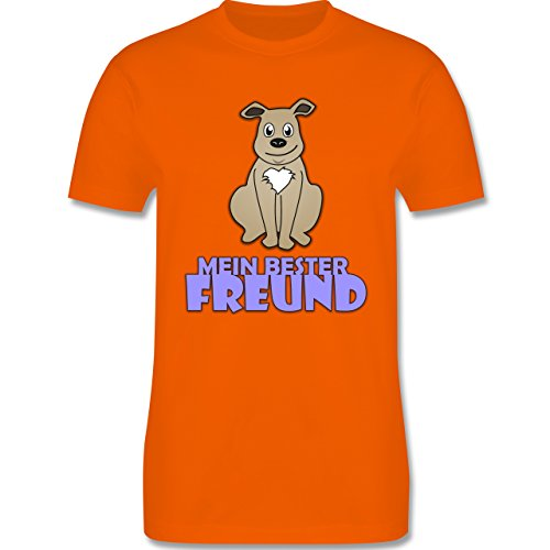 Hunde - Mein bester Freund Hund - Herren Premium T-Shirt Orange
