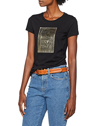 Armani Exchange Damen T-Shirt 6ZYTBF, Schwarz (Black 1200), X-Large