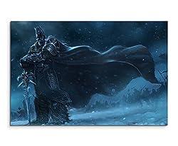 Arthas Menethil Wandbild 120x80cm XXL Bilder und Kunstdrucke auf Leinwand