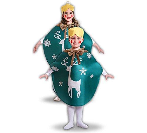 Imagen de disfraz de bola de navidad verde para niños