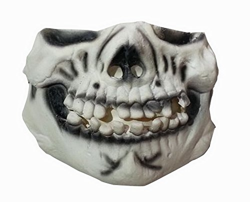Einzigartige halbe Gesichtsmaske Tier Festival-Party-Latex-Maske [Skelton]