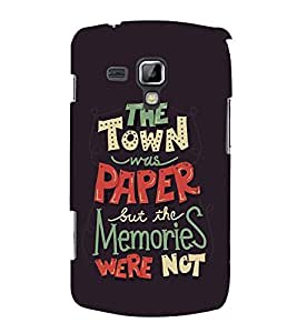 FUSON Town Paper Memories Not 3D Hard Polycarbonate Designer Back Case Cover for Samsung Galaxy S Duos 2 S7582 :: Samsung Galaxy Trend Plus S7580