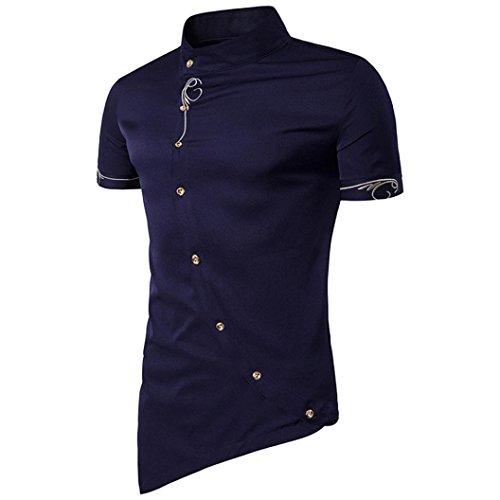 Camiseta para Hombre,RETUROM Camisa de Botones de los Hombres...