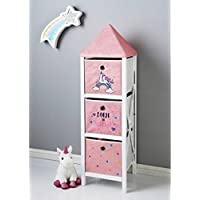 Scotrade New Fabulous lovely Unicorn 3 Drawer Chest Ideal for storing toys and clothes.