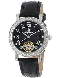 Burgmeister BM516-122 - Reloj analógico de mujer automático con correa de piel negra - sumergible a 30 metros
