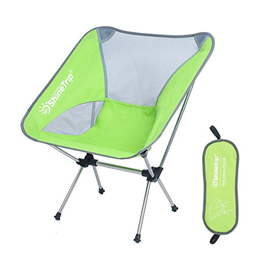 TZTED Ultra Light Camping Chair Garden Folding Fishing Chair Capacity Compact Portable Outdoor Chair With Carry Bag For Hiking Fishing Beach,Green