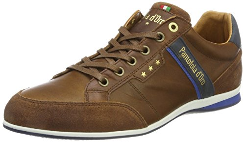 Pantofola d'Oro Herren Roma Uomo Low Sneaker, Braun (Tortoise Fa), 41 EU