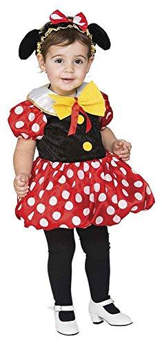 Kostüme Minie Mouse (Kostüm kleine Maus Gr. 92/98 Mädchen Kleid Kinderfasching Karneval)