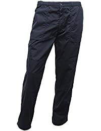 Regatta Mens New Lined Water Repellent Action Trousers (Long Leg) Navy