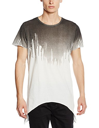JACK & JONES Herren T-Shirt Jormelted Tee Ss Crew Neck Mehrfarbig (Black Detail:CURVED HEM. SLIM. BLACK MELT)