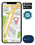 musegear® Schlüsselfinder Mini mit Bluetooth App I Keyfinder laut für Handy in dunkelblau I GPS Ortung/Kopplung I Schlüssel Finden