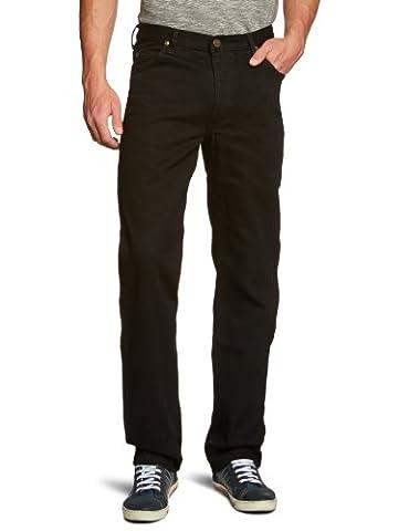 Lee Men's Brooklyn Comfort Straight Leg Jeans, Black Rinse, W40/L34