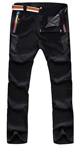 Insun pour Homme Outdoor Escalade randonnée léger à séchage Rapide Rapide Pantalon - Noir - XX-Large