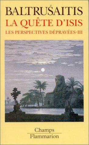Les Perspectives dpraves Tome  03 : La qute d'Isis