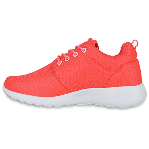 Damen Laufschuhe | Modische Sportchuhe| Sneaker Profilsohle |Glitzer Pailletten Sneakers | Runners Snake Blumen Neonpink