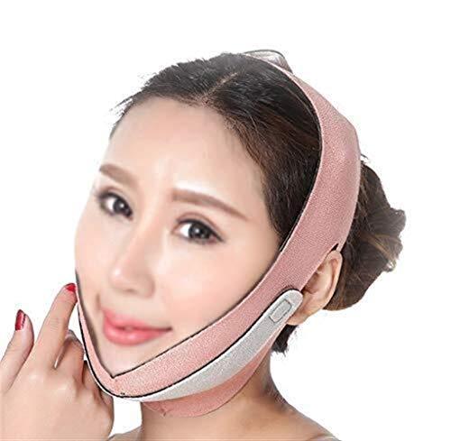 Face-Lifting-Maske Schönheit Gesichtsmaske Schönheit Artefakt Lifting V-Gesicht Schönheit Gürtel Schönheit Face-Lifting Gesicht Gesicht auf beiden Seiten der oberen Schnalle anpassbare Größe Ohr Desig -