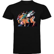 Desconocido Camiseta de Caballeros del Zodiaco Saint Seiya Anime Dibujos Animados DAcz001