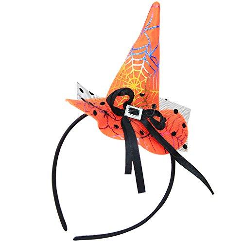 Hollywood Kostüm Exotische - Damen Hexenhut Stirnband Schwarz Hexe Haarband Halloween Maske Stirnbänder Für Frauen Karneval Party Dress Up Bandana Kopfband Cosplay Festliche Kostüm Maskerade Haarschmuck