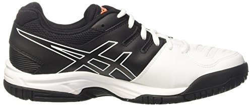 Asics Gel-Game 5 Gs, Chaussures de Tennis Mixte Enfant Blanc Cassé (White/onyx/shocking Orange)