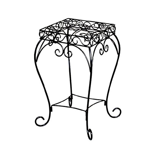 panacea-products-20-inch-scroll-plant-stand-black
