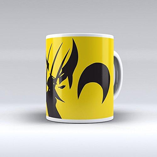 Taza decorada desayuno regalo original diseño Lobezno superhéroe